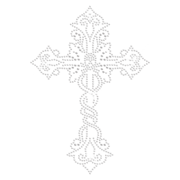 Rhinestone Iron on Cross Design for t shirt