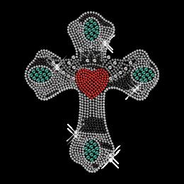 Crystal Rhinestone Classic Cross Hot Fix Motif