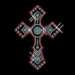 Classic Cross Rhinestone Hot Fix Design