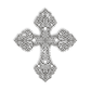 Sparkling Pure Crystal Korean Rhinestone Cross Iron on Transfer Motif for Clothes