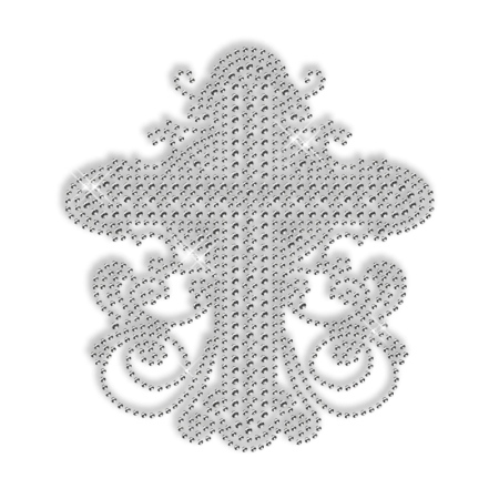Sparkling Pure Crystal Rhinestud Cross Iron on Transfer Motif for Shirts