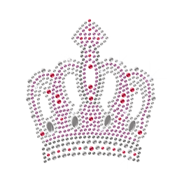 Royal Crown Hot-fix Crystal Pattern for t shirt