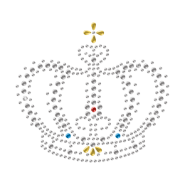 Hotfix Crown Crystal Transfer Design for t shirt