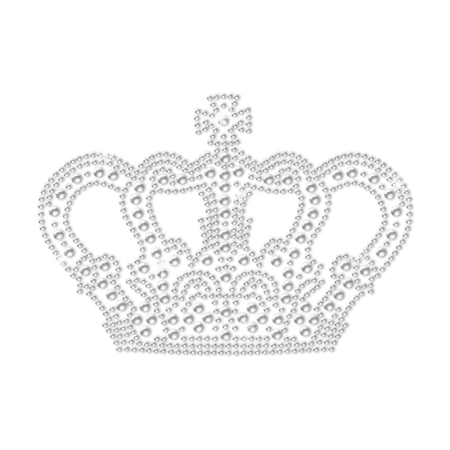 Vintage Crystal Crown Bling Bling Transfer Design for Kids