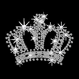 Crystal Bling Crown Hot fix Motif Design for Children