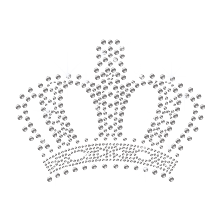 Crystal Bling Crown Hot fix Motif Design for Children