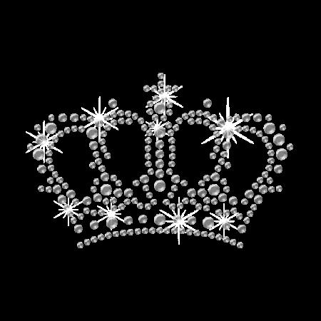 Hot Sale Crystal Crown Rhinestone Motif Design