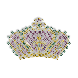 Sparkling Rhinestud Crown Iron on Transfer Motif for Clothes