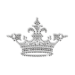 Sparkling Rhinestud and Rhinestone Pure Crystal Crown Iron on Transfer Design for Clothes