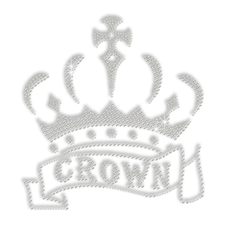 Cheap Pure Crystal Crown Iron on Motif for Shirts