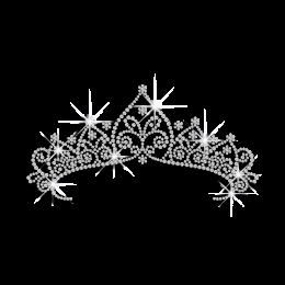 Royal Crystal Crown Iron-on Rhinestone Transfer