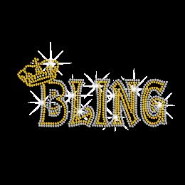 Bling Rhinestone Crown Hot-fix Motif