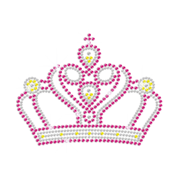 Bright Crown for Princess Iron on Bling Design