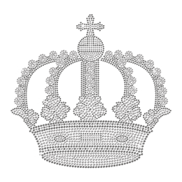 Wholesale Bling Crown Iron on Rhinestone Transfer Motif