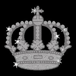 Wholesale Bling Crown Iron on Rhinestone Transfer Motif