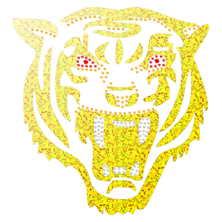 Holofoil Hotfix Tiger Transfer Image for t shirt