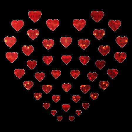 Shining Iron on Holofoil Heart Transfer