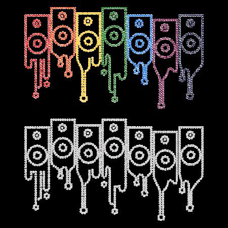 Colorful Iron on Rhinestone Pattern