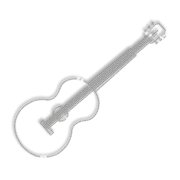Bling Iron on Stud Guitar Motif for T Shirt