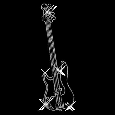 Bling Iron on Musical Instrument Rhinestone Transfer