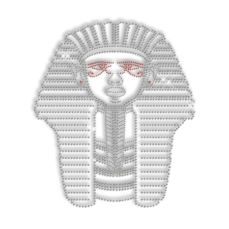 Sparkling Rhinestone Pharaoh Iron on Transfer Motif for Clothes