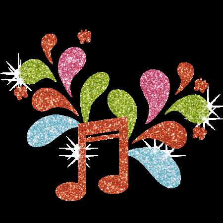 Wholesale Colorful Music Note Hotfix Glitter Pattern