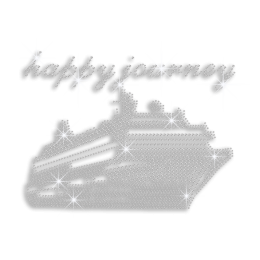 Crystal Happy Journey on Cruise Ship Rhinestone Hotfix Transfer