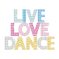 Bling Live Love Dance Rhinestone Hot Fix Transfer