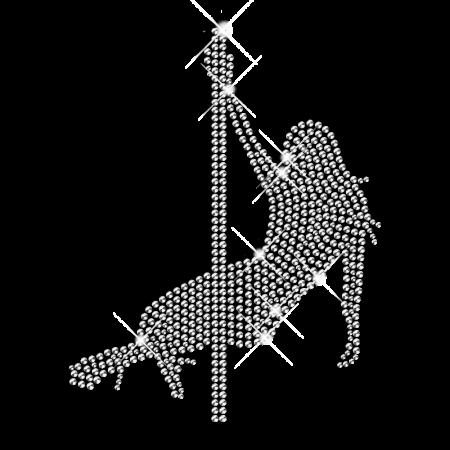 Pole Dancer Crystal Hotfix Custom Design for Clothing