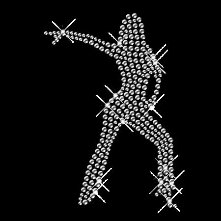 Dance Iron on Rhinestud Image Transfer