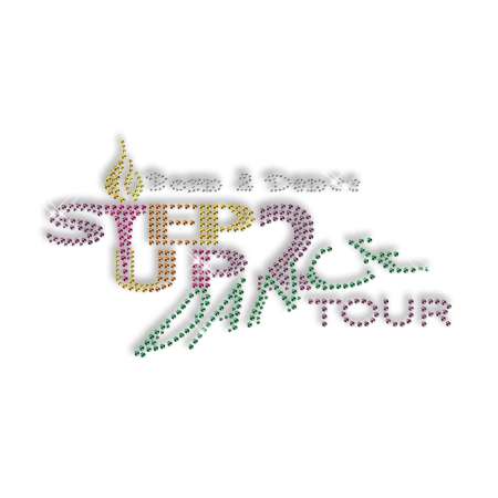 Best Shinning Rhinestone STEP UP 2 DANCE TOUR Iron on Transfer Design for Clothes