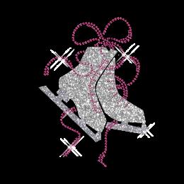 Custom Shinning Rhinestone Figure Skate Iron on Transfer Design for Clothes