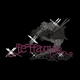 Best Sparkling Rhinestone Teffany Dance Studio Iron on Transfer Design for Shirts