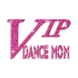 Pink VIP Dance Mom Glitter Custom Iron on Transfer for Garments