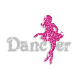 Romantic Dancer Customized Neon Rhinestud Hotfix Transfer for clothes