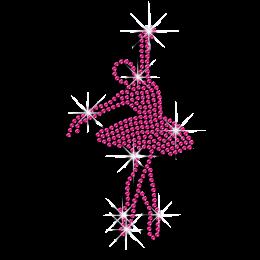 Elegant Ballet Dance Movement Sequin Iron-on Transfer Design