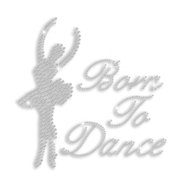 Crystal Born to Dance Iron-on Rhinestone Transfer Design
