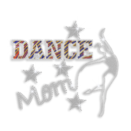 Bling Dance Mom Hotfix Glitter Rhinestone Transfer