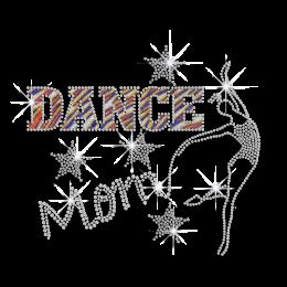 Bling Dance Mom Hotfix Glitter Rhinestone Transfer