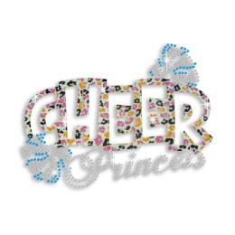 Colorful Cheer Princess Iron-on Glitter Rhinestone Transfer