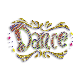 Pretty Dance Celebration Hotfix Glitter Nailhead Rhinestone Transfer