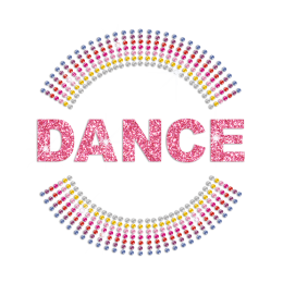 Light Pink Dance Hot-fix Rhinestone Transfer