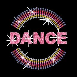 Light Pink Dance Hot-fix Rhinestone Transfer