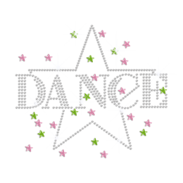 Crystal Dance with Bling Star Heat Press Rhinestone Transfer
