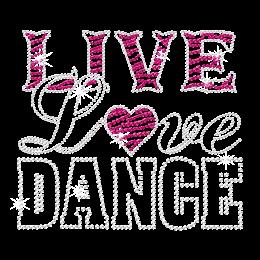Live Love Dance Bling Iron-on Transfer