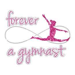 Forever Gymnast Iron-on Glitter Rhinestone Transfer