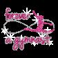 Forever Gymnast Iron-on Glitter Rhinestone Transfer