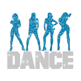 Big Dance Heat Press Glitter Rhinestone Transfer