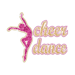 Cheer Dance Hotfix Glitter Rhinestone Transfer
