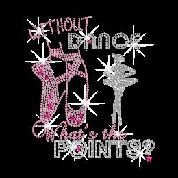 Bling Dance Spirit Iron-on Rhinestone Glitter Transfer Motif